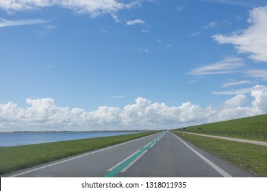 North Sea Motorway, Afsluitdijk, Netherlands beach