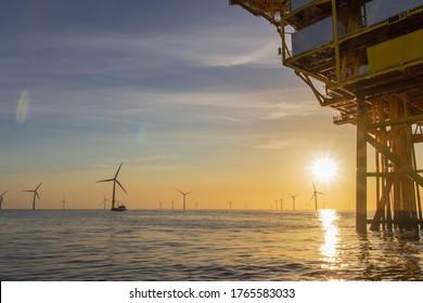 North Sea offshore wind farm - Shutterstock ID 1765583033