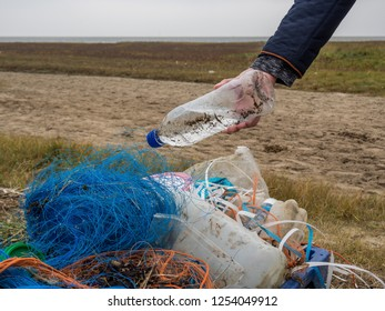 North Sea plastic waste