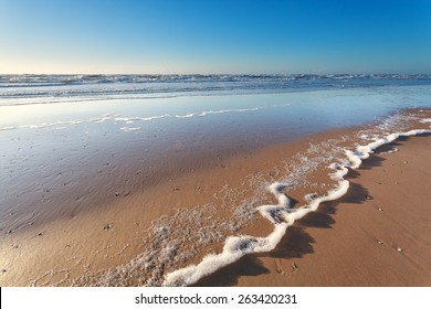 North sea sand beach and sunshine, Holland