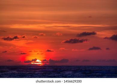 North Shore Oahu Hawaii Sunset