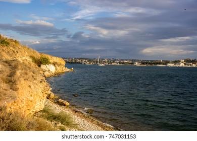 North side of the city of Sevastopol. View of the Sevastopol Bay