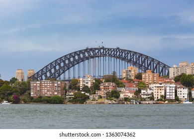 North Sydney residential housing near Sydney Harbour Bridge in New South Wales, Australia