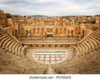 North theater in Jerash, Jordan