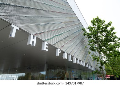 NORTH VANCOUVER, BC, CANADA - JUNE 9, 2019: The brand new Polygon Art Gallery in near Lonsdale Quay.