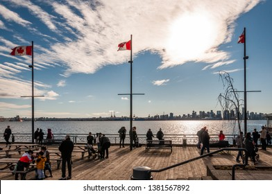 NORTH VANCOUVER, BRITISH COLUMBIA, CANADA - FEBRUARY 17, 2019: Lonsdale Quay Market