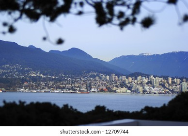 North Vancouver postcard view, from Canada Place