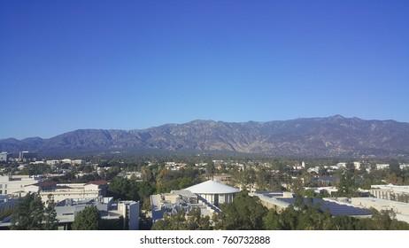 north view of Pasadena and San Gabriel Mountains