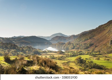 NORTH WALES, UK - OCTOBER 2015 - A VIEW OF THE BEDDGELERT VALLEY IN NORTH WALES
