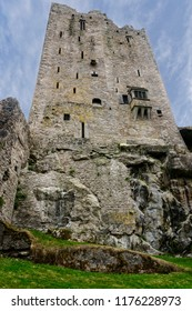 The North Wall of Blarney Castle sits directly on an eight-metre cliff of rock, which formed the quarry for building the castle.