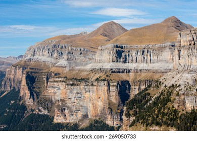North wall Ordesa Valley, in Ordesa y Monteperdido National Park