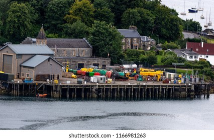North West Scotland/Town of Oban, Taken  on 12/08/2018 Ariel view of Oban North West Scotland taken from McCaigs point viewing  area, McCaigs point is a very popular viewing area