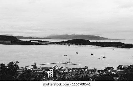 North West Scotland/Town of Oban, Taken  on 12/08/2018 view from Oban towards Kerrera island and beyond lies Isle of Mull very popular for wild life. Eagles otters, wild Deer