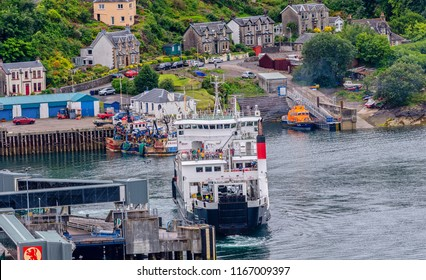 North West Scotland/Town of Oban, Taken  on 12/08/2018 view from Oban walkway  ferry leaving for the isle of mull, a very popular destination for wild life.