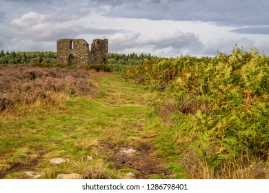 North York Moors landscape, looking at Skelton Tower, seen from the Levisham Moor, North Yorkshire, England, UK