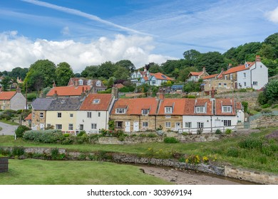 The North Yorkshire town of Sandsend one of the gems of the north east coast of England