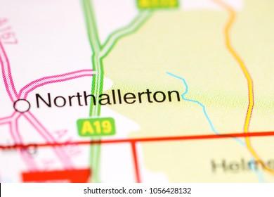 Northallerton. United Kingdom on a map