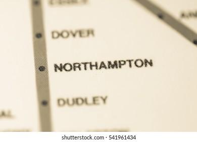 Northampton Station. Boston Metro map.