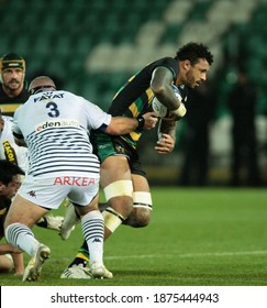 Northampton, UK. 11th December 2020. Courtney Lawes of Northampton Saints runs with the ball during the Heineken Champions Cup match between Northampton Saints and Bordeaux-Begles