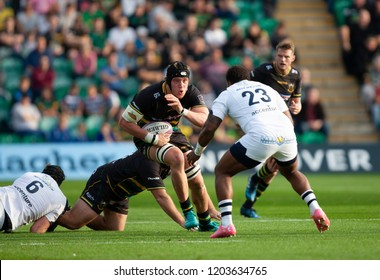 Northampton, UK. 13th October 2018. Alex Moon of Northampton Saints during the European Rugby Challenge Cup match between Northampton Saints and ASM Clermont Auvergne
