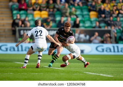 Northampton, UK. 13th October 2018. Andrew Kellaway of Northampton Saints during the European Rugby Challenge Cup match between Northampton Saints and ASM Clermont Auvergne