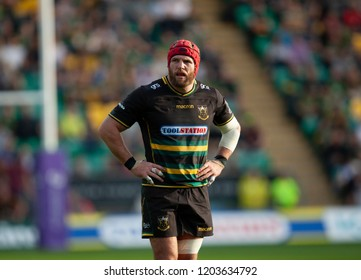 Northampton, UK. 13th October 2018. James Haskell of Northampton Saints during the European Rugby Challenge Cup match between Northampton Saints and ASM Clermont Auvergne