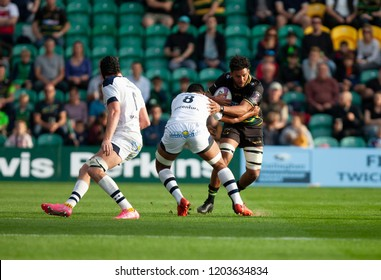Northampton, UK. 13th October 2018. Lewis Ludlam of Northampton Saints during the European Rugby Challenge Cup match between Northampton Saints and ASM Clermont Auvergne