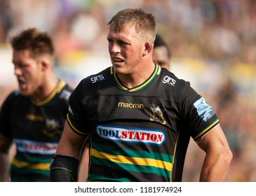 Northampton, UK. 15th September 2018. Alex Waller of Northampton Saints during the Gallagher Premiership round 3 match between Northampton Saints and Saracens at Franklin's Gardens.