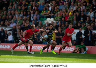 Northampton, UK. 15th September 2018. Tom Collins of Northampton Saints during the Gallagher Premiership round 3 match between Northampton Saints and Saracens at Franklin's Gardens.