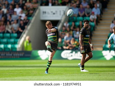 Northampton, UK. 15th September 2018. Dan Biggar of Northampton Saints during the Gallagher Premiership round 3 match between Northampton Saints and Saracens at Franklin's Gardens.