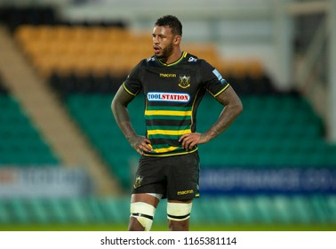 Northampton, UK. 24th August 2018. Courtney Lawes of Northampton Saints during the Pre-Season friendly game between Northampton Saints and Glasgow Warriors at Franklin's Gardens.