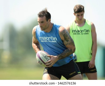 Northampton, UK. 25th July 2019. Lewis Bean during Northampton Saints Pre-season training ahead of the Gallagher Premiership Rugby 2019-20 Season