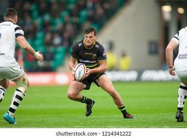 Northampton, UK. 27th October 2018. George Furbank of Northampton Saints during the Premiership Rugby Cup match between Northampton Saints and Bristol Bears