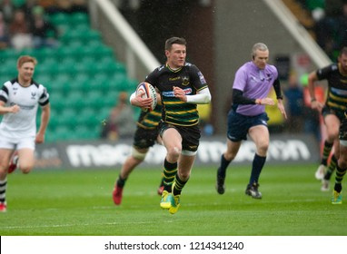 Northampton, UK. 27th October 2018. Fraser Dingwall of Northampton Saints during the Premiership Rugby Cup match between Northampton Saints and Bristol Bears