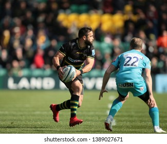 Northampton, UK. 4th May 2019. Cobus Reinach of Northampton Saints runs with the ball during the Gallagher Premiership Rugby match between Northampton Saints and Worcester Warriors
