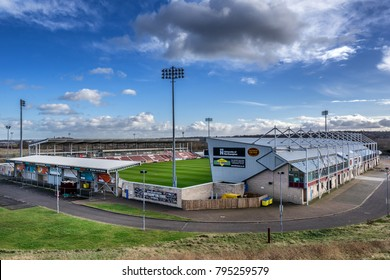 Northampton,England on 16th Jan 2018. Sixfields Stadium in the home ground of Northampton Football Club.The stadium has a capacity of  7,798 all-seater in the Sixfields area of Northampton.