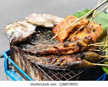 Northeast food, Thai cuisine street food and travel concept