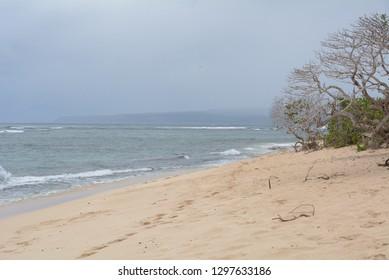 Northeast Shore of Oahu on a Rainy Day
