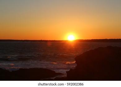 Northeast sunset Jamestown Ri 3-2-17