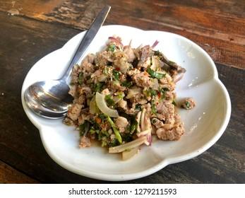 Northeast Thai food: Spicy minced pork