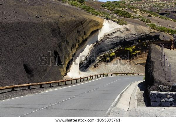 Northen road to Teide in Tenerife