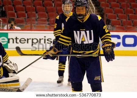 Northern Arizona University Jacks Hockey Club Stock Photo Edit Now