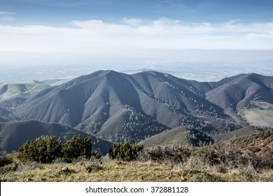 Northern California Landscape. Views from Eagle Peak, Mt Diablo State Park, Contra Costa County, California, USA.