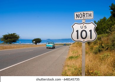 NORTHERN CALIFORNIA, USA - September 2, 2009: Highway 101 sign in Northern California