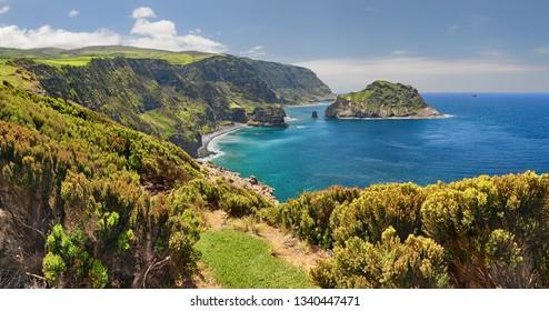 Northern Coast at Flores near Ponta Delgada (Azores islands)