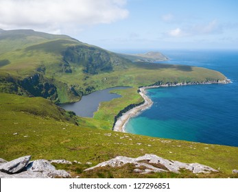 Northern coastline on Achill Island, Ireland, north of Dooagh.