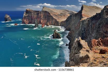 Northern coastline of Ponta de Sao Lourenco (Madeira, Portugal)