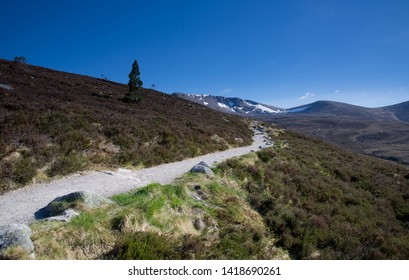 The Northern Corries in The Cairngorm National Park, the path in to Coire an T-Sneachda and Coire Lochain