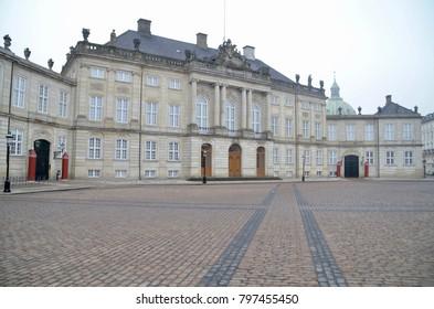 Northern Europe Denmark Copenhagen Amalienborg palace Slot
