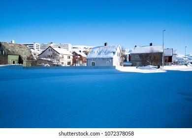 Northern Europe Norway Hammerfest city landscape